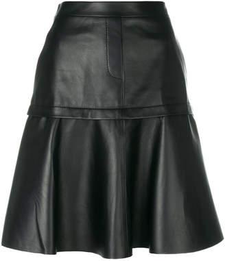 Neil Barrett pleated A-line skirt