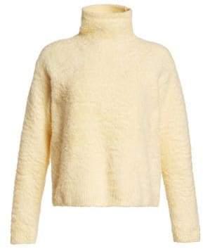 Acne Studios Women's Kristel Knit Turtleneck Sweater - Vanilla Yellow - Size XS