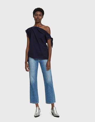 MM6 MAISON MARGIELA Raw Denim Knotted Top