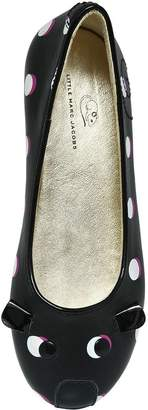 Little Marc Jacobs Dots Printed Leather Ballerina Flats
