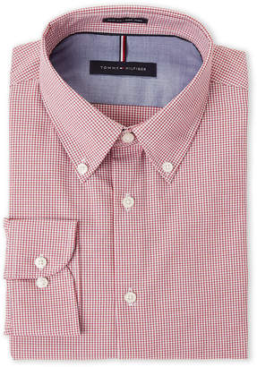 Tommy Hilfiger Cranberry Check Slim Fit Dress Shirt