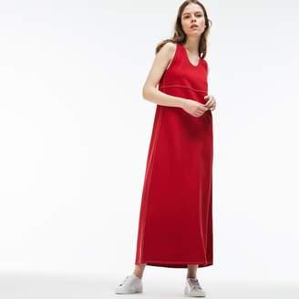 Lacoste Women's Stretch Milano Knit Long Dress