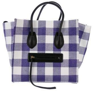 Celine Gingham Medium Luggage Phantom Tote