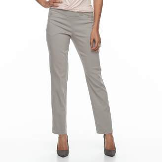 Apt. 9 Petite Pull-On Straight-Leg Dress Pants