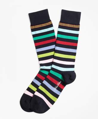 Brooks Brothers Multi-Stripe Crew Socks