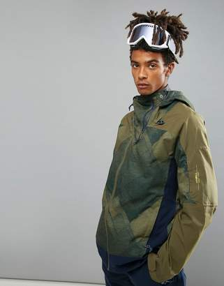 O'Neill Jeremy Jones Contour Ski Jacket in Green Print