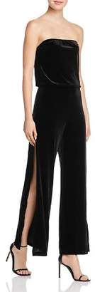 Aqua Velvet Strapless Wide-Leg Jumpsuit - 100% Exclusive