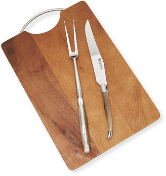 Laguiole en Aubrac Set of cutting board with carving set