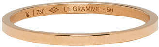 Le Gramme Red Gold Polished Le 1 Grammes Wedding Ring