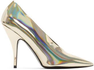 Stella McCartney Gold Holographic Pumps