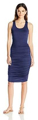 Women's Summer Petite Everyday Sleeveless Open Scoop Neck Cami Tank Top Dress