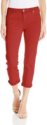 Liverpool Jeans Company Women's Michelle Capri in Pigment Dyed Slub Stretch Twill
