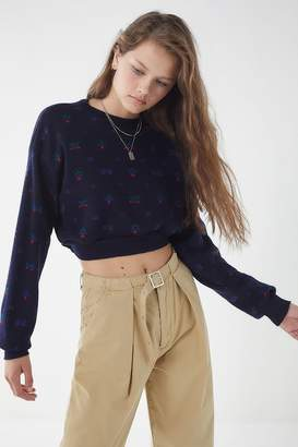 Urban Renewal Vintage Remade Patterned Cropped Sweater