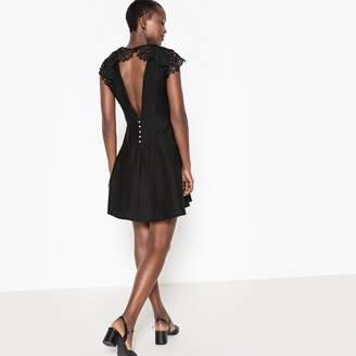 Suncoo Plain Short-Sleeved Mini Dress