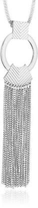 Steve Madden Metal Tribal Fringe Pendant Necklace