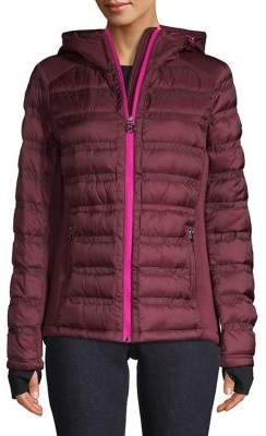 Michael Kors Classic Hooded Quilted Jacket