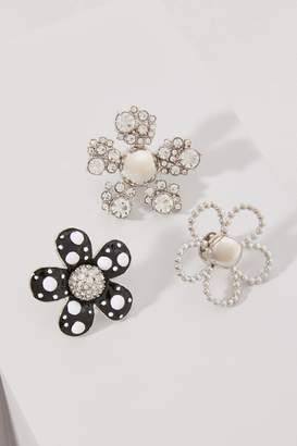 Marc Jacobs Daisy Polka Dot brooch set