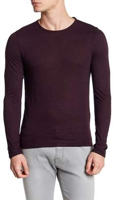 John Varvatos Collection Crew Neck Striped Long Sleeve Tee