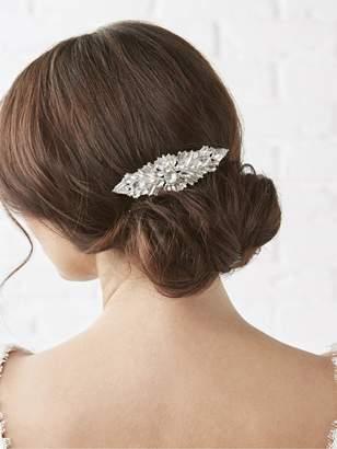 Jon Richard Jennifer Jewelled Crystal Hair Comb - Silver