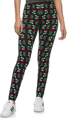 It's Our Time Its Our Time Juniors' Christmas Print Leggings