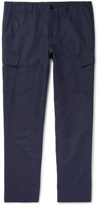Mr P. Slim-Fit Tapered Cotton And Linen-Blend Cargo Trousers