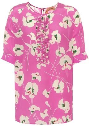 N°21 Printed silk top
