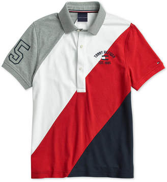 Tommy Hilfiger Adaptive Men Stripe Polo with Magnetic Buttons