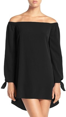 Women's A By Amanda 'Desiree' Off The Shoulder Shift Dress $98 thestylecure.com
