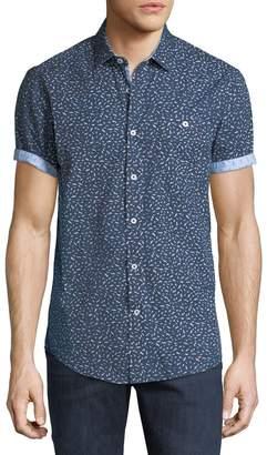 Report Collection Men's Short-Sleeve Bird Print Sport Shirt