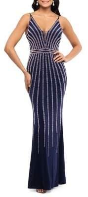 Xscape Evenings Beaded Floor-Length Dress