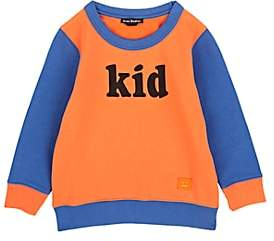 Acne Studios Kids' Kid-Print Cotton Sweatshirt-Orange