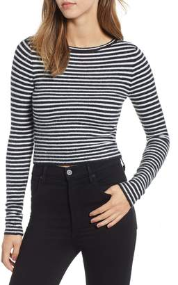 Amuse Society Nova Stripe Crop Sweater