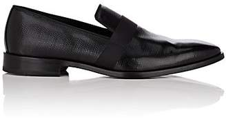 Barneys New York Men's Textured Patent Leather Venetian Loafers - Black