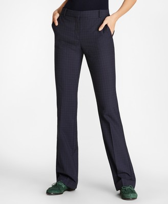 Brooks Brothers Petite Checked Wool Pants