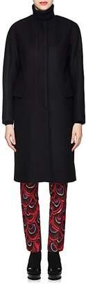 Dries Van Noten Women's Collarless Wool-Blend Felt Coat