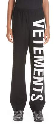 Vetements Logo Sweatpants