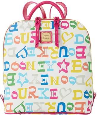 Dooney & Bourke Doodle Coated Cotton Zip Pod Backpack