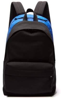 Balenciaga Two Tone Technical Backpack - Mens - Black Blue