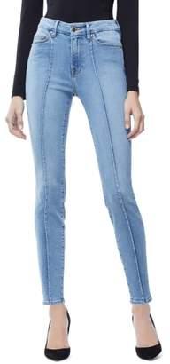 Good American Good Legs Pintuck Ankle Skinny Jeans