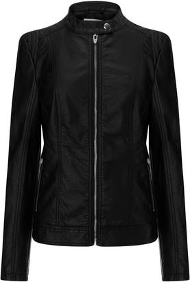 Next Vila Womens Faux Leather Jacket Black XS