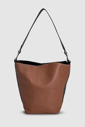 Next Womens Dark Green Bucket Bag