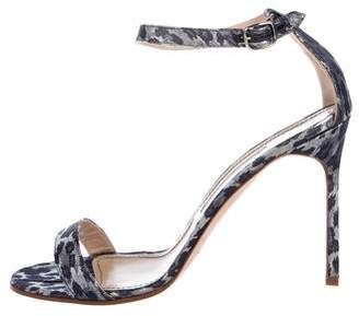 Manolo Blahnik Chaos Metallic Sandals w/ Tags