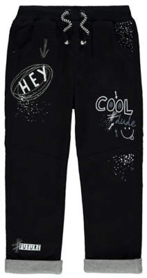 George Cool Dude Slogan Print Trousers