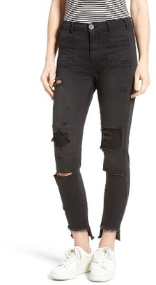 Women's One Teaspoon Ripped Skinny Jeans $139 thestylecure.com