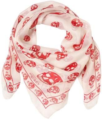 70a62b3115de8 Alexander Mcqueen Skull-print Silk-chiffon - ShopStyle