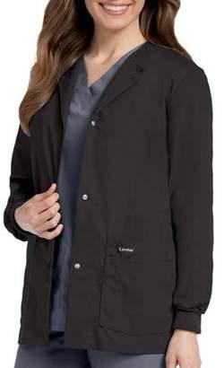 Landau Women's Snap Front Warm-up Scrub Jacket, Style 7546