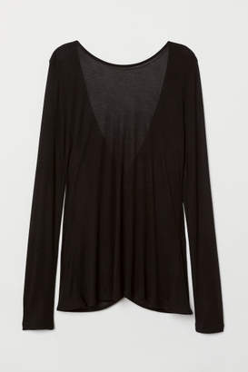 H&M Top with Low-cut Back - Black