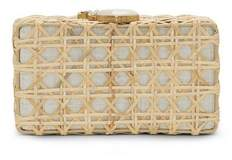 Louise et Cie Joni – Woven Bamboo Minaudière