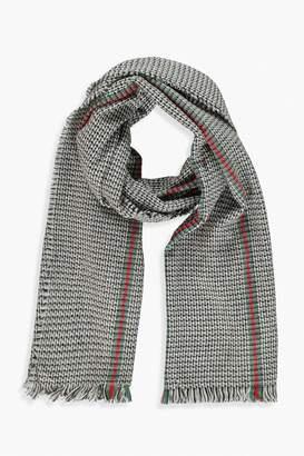 boohoo Stripe Detail Herritage Blanket Scarf