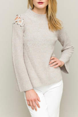 Hem & Thread Funnel Neck Sweater